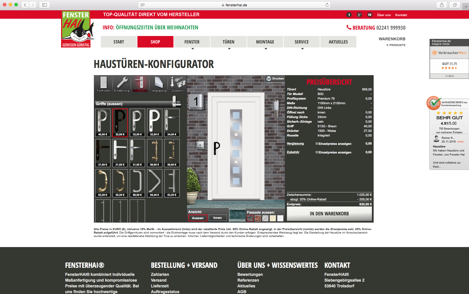 Fenster hai configurator database for House configurator