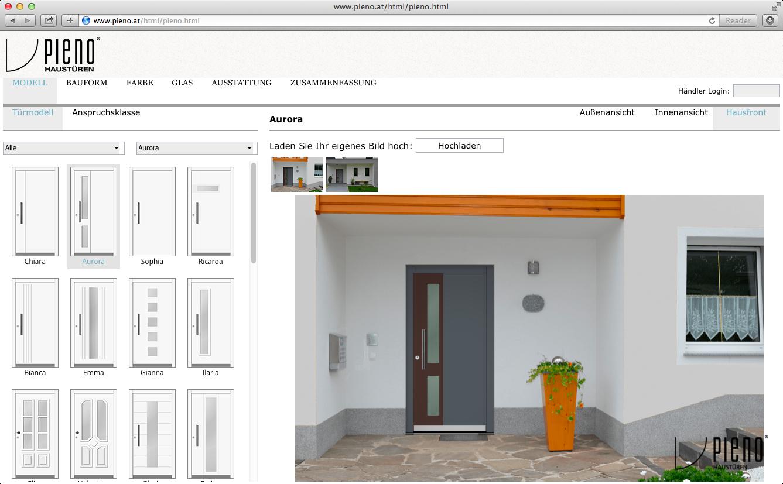 Pieno configurator database for House configurator