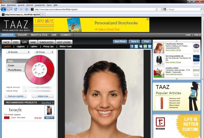 Com virtual taaz makeover www Taaz Virtual