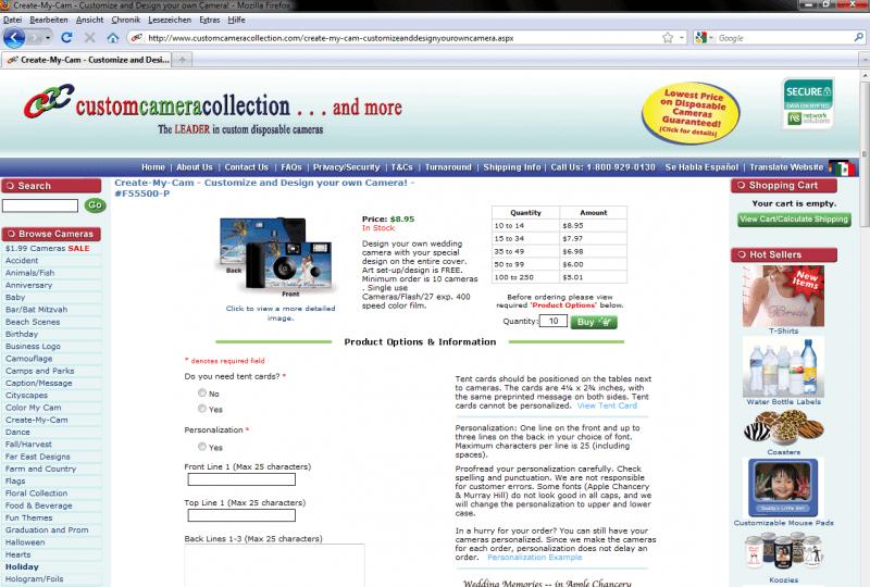 0802a8ae Custom Camera Collection | Configurator Database