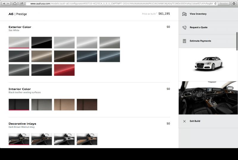 Audi USA Configurator Database - Audi usa models