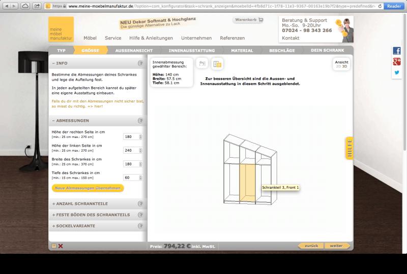 Meine Möbelmanufaktur meine möbelmanufaktur configurator database